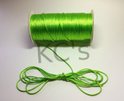 50 Yards - 2mm Apple Green Satin Rattail Cord Chinese/china Knot Rat Tail Jewellery Braid 100% Polyester