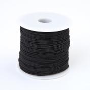 Bingcute 1.0MM Black Elastic Cord, 100 Yard