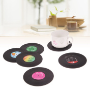 6pcs/lot Useful Vinyl Coaster Cup Drinks Holder Mat Tableware Placemat Coffee Tea Cup Pad Cup Mat -All U Need