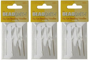Beadsmith Big Eye Needles 5.4cm - 3 Packs of 4 Large Eye Needles each