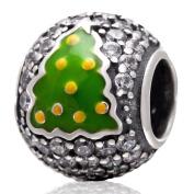 Christmas Tree Charm 925 Sterling Silver Gift Charm for Pandora Charm Bracelet