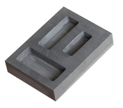 Graphite ingot for gold bar casting