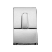 VALYRIA 1pc Polished Stainless Steel Leather Cord End Clasp With Locking Mechanism 30mmx17mm