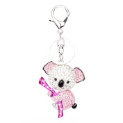 Ruilong Rhinestone Crystal Beaded Key Chain Cute Animals Charm Pendant Christmas Gift Decoration Keyring