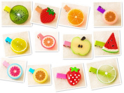 Yunko 12 PCS Lovely Fruit hairpin Small Hair Clip