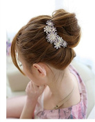 QTMY Crystal Rhinestone Flower Hair Pin Hair Jewellery Hair Accessories