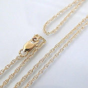 14k Gold Filled 1.3mm Rope Chain Necklace W/ 14K Gold Filled Lobster Clasp
