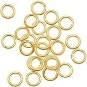20 Jump Rings, 14kt Gold-filled, 4mm Round, 22 Gauge Open Jewellery Connectors Chain Links Sold Per Pkg of 20