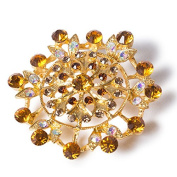 Diamond Encrusted Antique Brooch - Gold