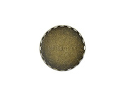"""25mm 1"""" Round Filigree Brass Bezel Brooch Base with Pin Back Findings Pack of 20"""