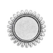1″ 25mm Round Brooch Blank Base Cameo Cabochon Base fit 25mm Round Cabochon Pack of 10