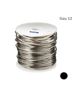 SILVER PLATED COPPER ROUND WIRE 12 GAU 15m 0.5kg SPOOL