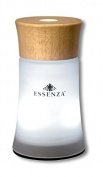 ESSENZA ultrasonic fragrance diffuser | Changing Coloured LED Light | 29.57 mL Vanilla Salted Carmel Oil | Light Wood