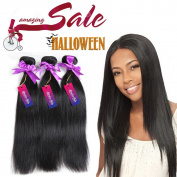 """Mornice Hair 100% Unprocessed Peruvian Remy Virgin Hair Weft Weave 3 Bundles 300G 8A Grade Real Silky Straight Human Hair Extensions Natural Black 12""""12""""12"""""""