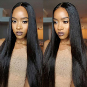 Yaweida Hair 7A Peruvian Virgin Straight Hair Weave 4 Bundles 100% Unprocessed Human Hair Extensions Natural Colour Can Be Dyed