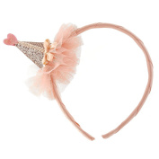 Glitter Cone Hat Headband - Gold