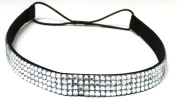 WigsPedia Rhinestone Crystal Stretch Headband 4-Row Head Piece Elastic Hair Band for Women