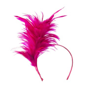 Fancy Feather Fascinator - Fuchsia