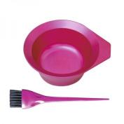 Tint Professional Salon Hair Ing Bowl & Brush - Metallic Pink