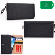 Black phone case wallet w/card slots and coin pocket| NEW SHIPS OUT OF USA| Universal design fits