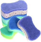 3M Buf-Puf Double Sided Body Sponges with Exfoliating Pads - Assorted Colours