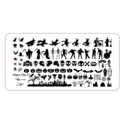 HP95(TM) Halloween DIY Nail Art Image Stamp Stamping Plates Manicure Template Nail sticker