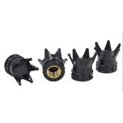 Sandistore 4PC Crown Tyre/Wheel Air Stem Valve Caps For Car Truck Hot Rod