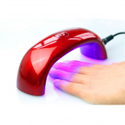 Sunmy 9w Nail Dryer USB LED lamp Light Mini Portable Nail Dryer Red