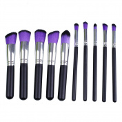 Maquita 10Pcs Premium Synthetic Kabuki Makeup Brush Set Cosmetics Foundation Blending Blush Eyeliner Face Powder Brush Makeup Brush Kit