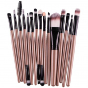 Creazy® 15 pcs/Sets Eye Shadow Foundation Eyebrow Lip Brush Makeup Brushes Tool