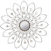 Stratton Home Decor SHD0010 Decorative Flower Mirror