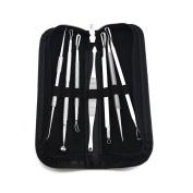 SAMYO 7 Kits Set Facial Acne Treatment - Comedone Pimple Extractors Instruments, Blackhead Blemish Remover Tools- With a Free Travel Case
