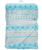"Cribmates Baby Boys' ""Sweet Sleep"" Plush Blanket - blue, one size"