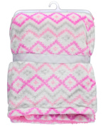 "Cribmates Baby Girls' ""Soft Hearts"" Plush Blanket - pink, one size"