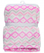 "Cribmates Baby Girls' ""Soft Hearts"" Plush Blanket - pink, one size"
