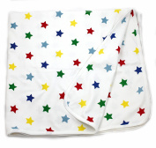 Viverano Organic Cotton Reversible Baby Blanket, Natural Receiving & Swaddle Cloth