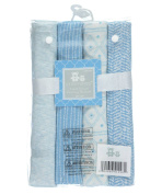 "Cribmates Baby Boys' ""Sweet Sleep"" 4-Pack Receiving Blankets - blue, one size"