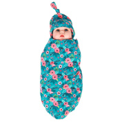 Little Mouse Newborn Baby Photography Props /Swaddle,Swaddle Cocoon,Blanket & Hat Set