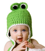 Yonger 0-1 Year Old Baby Kids Cute Frog Photograph Props Crochet Beanies Hats and Skirt Outfits