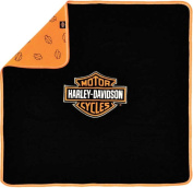 Harley Davidson Baby Receiving Blanket - Orange And Black