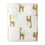 "ONGLYP Baby Swaddle Blankets 100% Muslin Bamboo Nursing Cover Gift for New Mom 48""48"",Giraffe"