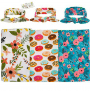 Lucky staryuan 3 set Baby Toddler Printing Headband Wrapped Towel Set