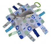 Baby Jack ABC BLUE Shark Sensory Educational Lovey 10 x 10