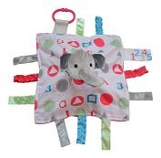 Baby Jack ABC Pink Elephant Sensory Educational Lovey 10 x 10