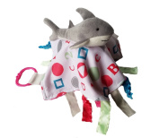 Baby Jack ABC Pink Shark Sensory Educational Lovey 10 x 10