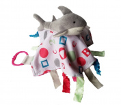 Baby Jack ABC Pink Shark Sensory Educational Lovey 10 x 10