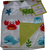 Kimberly Grant baby blanket - Velboa - Double - Sea Life - Crab - whale