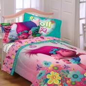 Girl Sheet Set 3 Piece Kids Bedding Dreamworks Troll Life Bedsheets