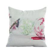 Ikevan Christmas Hot Selling Square Pillow Case Fashion Flax Pillowcase Sofa Waist Throw Cushion Pillow Cover Home Decor (46cm x 46cm ) (Mint Green)