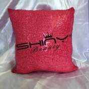 ShinyBeauty Sequin Pillow Cover-30cm x 30cm ,Sequin Pillow Case,Sequin Cushion Covers,Throw Pillow Case-HotFushia